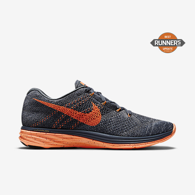 1465ace8b763 Recently Viewed. Nike Flyknit Lunar 3 Classic Charcoal Dark Grey Bright  Citrus Total Orange