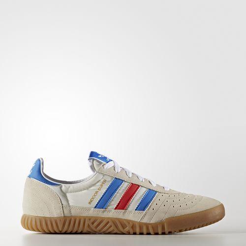 adidas indoor super shoes white