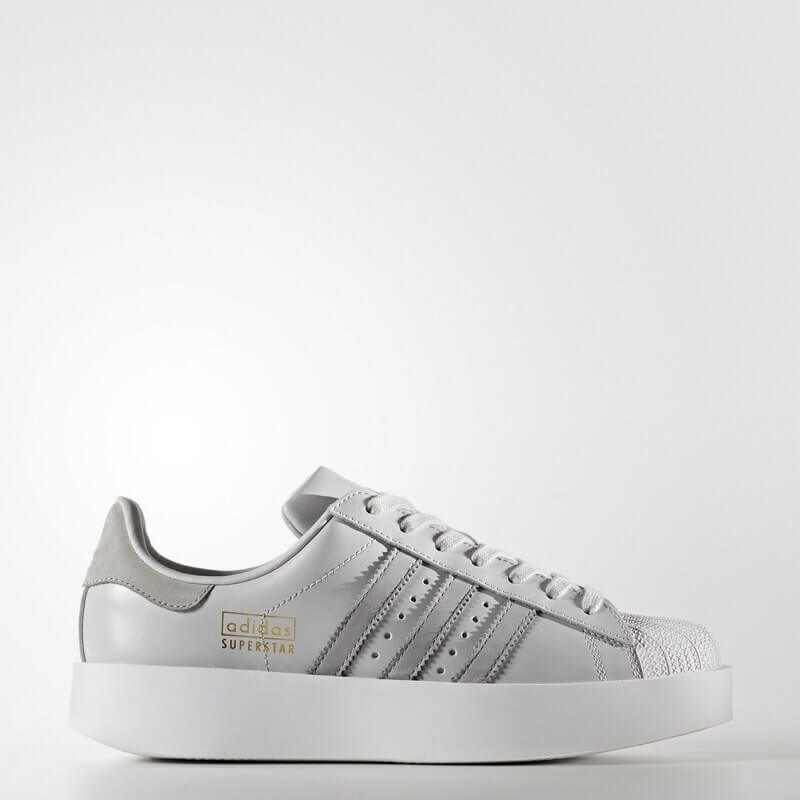 adidas Superstar Bold Platform Shoes Grey