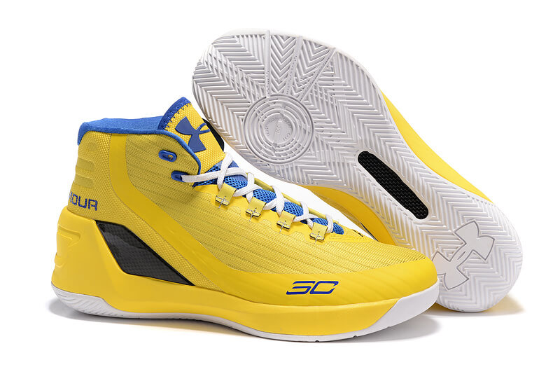 UA Curry 3 Basketball Shoes Yellow
