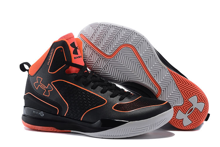 UA Curry Three Basketball Shoes Black/Orange
