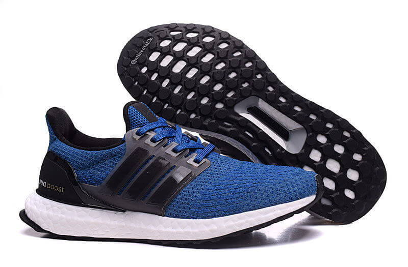 Men's adidas Ultra Boost Shoes Blue/Black White