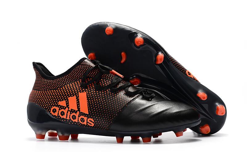 a97f4fc18d7 Men s adidas X 17.1 Leather FG Black Orange. detail image