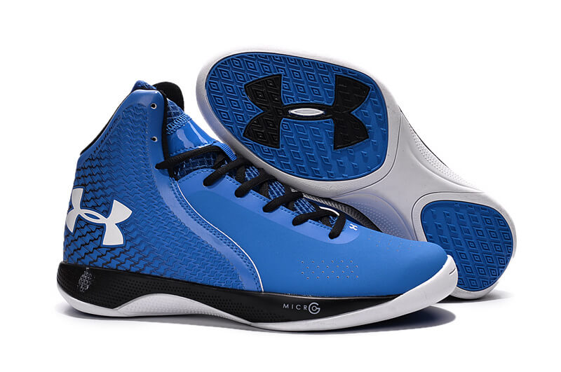 UA Micro G® Torch Basketball Shoes Blue Black/White