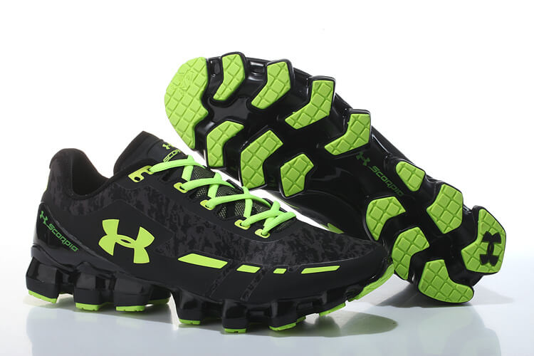 UA Scorpio Running Shoes Black/Green