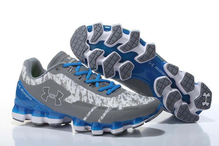 separation shoes 84cd7 2ac30 UA Scorpio Running Shoes Grey/White/Blue