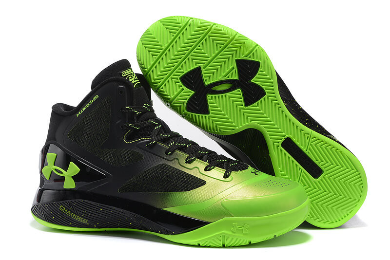 UA ClutchFit™ Drive II Basketball Shoes Green Black