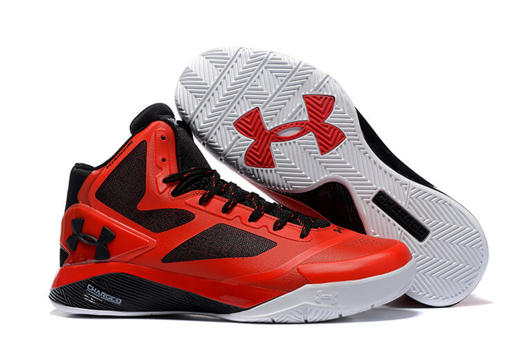 buy popular ad52f 012d0 UA ClutchFit™ Drive II Basketball Shoes Red Black White. detail image