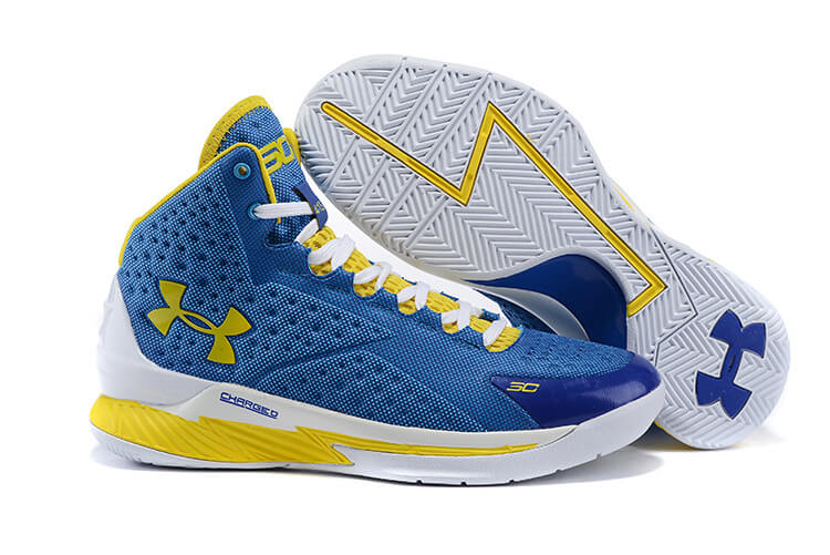 UA Curry One Basketball Shoes Pale-blue/Yellow