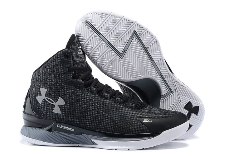 UA Curry One Basketball Shoes Black/Grey