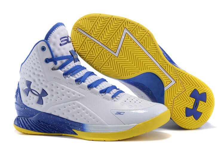 UA Curry One Basketball Shoes White/Navy