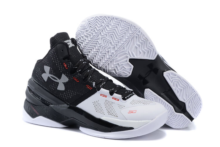 UA Curry Two Basketball Shoes White/Black Sliver
