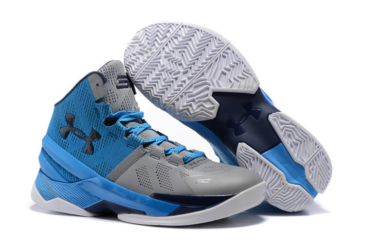 new products db1a2 2ad8a UA Curry Two Basketball Shoes Grey Blue Navy. detail image