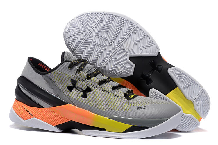 UA Curry Two Low Basketball Shoes Grey/Black