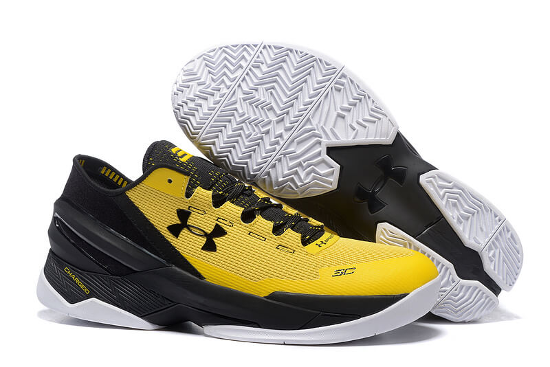 UA Curry Two Low Basketball Shoes Black/Yellow