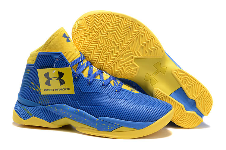 UA Curry 2.5 Basketball Shoes Blue/Yellow