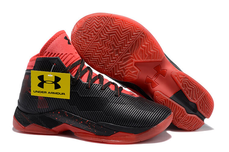 UA Curry 2.5 Basketball Shoes Black/Red