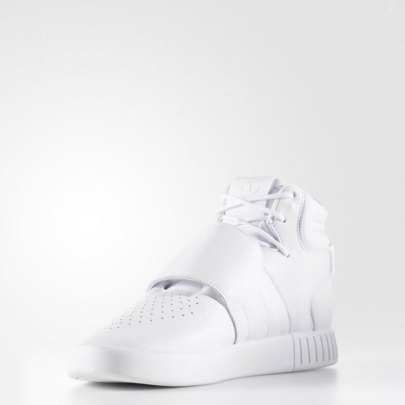Men\u0027s adidas TUBULAR INVADER STRAP SHOES White